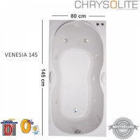 Bathtub Chrysolite - Tipe Venesia 145 Marble White