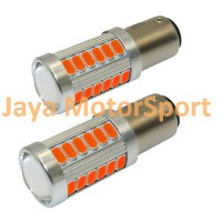 Lampu LED Mobil / Motor S25 1157 / BAY15D 33 SMD 5730 - Yellow