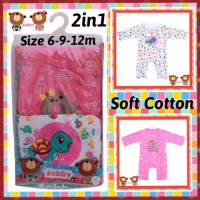romper 2in1 soft katun baby girl