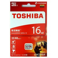 Memory Micro SD CARD 16GB TOSHIBA CLASS 10 ORIGINAL Speed 48MB/s