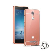 Case Xiaomi Redmi Note 4 Bumper Metal + Back Case Sliding - ROSE GOLD