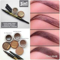 Lanbis Eyebrow Gel & Eyeliner   Brush 3 in1