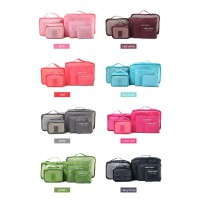 [Set 6in1] Secret Pouch Tas Travel Bag in Bag Cosmetic Organizer
