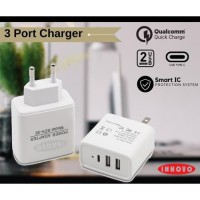 INNOVO CHARGER ADAPTOR FAST CHARGING 3.1 A With Type C - SDV30