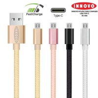 INNOVO Nylon Kabel Charger Data Type C Fast Charging 3.3A - DC006