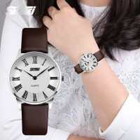Jam Tangan Wanita SKMEI 9092 Original Water Resist 30M - Brown White - BOX SKMEI