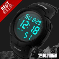 SKMEI Pioneer Sport Watch 1068 Original Water Resistant 50M - Black - BOX ORIGINAL SKMEI