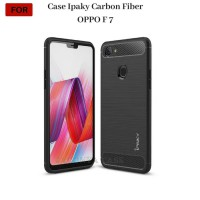 CASING OPPO F7 Case Ipaky Carbon Fiber Soft Series