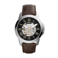 Fossil ME3100 Grant Skeleton Brown Leather