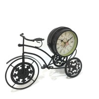Vintage Retro Metal Bicycle Two Sided Table Clock Decoration