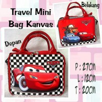 TRAVELBAGMURAH - Tas Travel Mini Kanvas Cars Catur