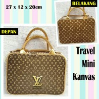 TRAVELBAGMURAH - Tas Travel Mini Kanvas LV