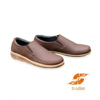 D-Island Shoes Autumn Low Comfort Leather Brown