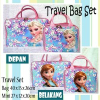 TRAVELBAGMURAH - Tas Travel Set Kanvas Frozen Flower