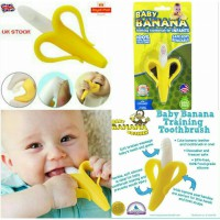 Banana Baby training Toothbrush / Sikat Gigi Banana Silicon Baby Training Toothbrush