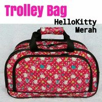 TRAVELBAGMURAH - Tas Trolly Bag HelloKitty Merah