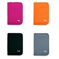 High Quality  Zipper Passport Wallet Compact Size