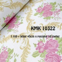 Wallpaper Sticker 10m Motif Batik Bunga