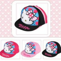 Topi HipHop SnapBack Anak Perempuan Hello Kitty 3D H365
