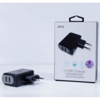 Jivo Travel Adapter With Dual Usb - BLACK