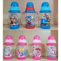 Botol Minum Karakter anak T7001 paw patrol, tayo, little pony, unicorn, lol, thomas and friends 350ml