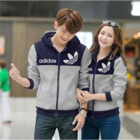 Grosir! Couple Jaket Lacoste Abu [Couple Jaket Adidas Navy-Abu Lo]