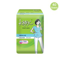 [KOTEX] FRESH LINERS REGULAR Unscented isi 40 pcs