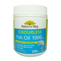 Natures Way Odourless Fish Oil Minyak Ikan 1000 Mg 200 Kapsul