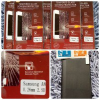 TEMPERED GLASS SAMSUNG GALAXY A8 SCREEN GUARD PROTECTOR ANTI GORES