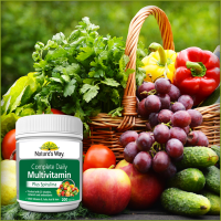 Natures Way Multivitamin Plus Spirulina 200 Tablet Menjaga Stamina