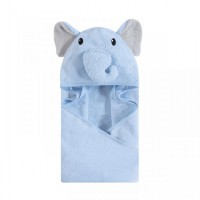 Hudson Baby Animal Face Hooded Towel / Blue Elephant