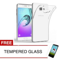 Case for Samsung Galaxy A9 Pro 2016 - Clear + Gratis Tempered Glass - Ultra Thin Soft Case
