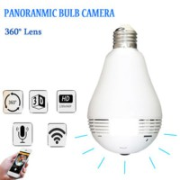 IP CAMERA WIFI BOHLAM / LAMPU 2MP 1080P PANORAMIC 360*  SJ0142