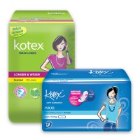 Kotex Fresh Liner Longer  Wider Daun Sirih (32 pcs)  Smooth Slim Non Wing (10 pcs)