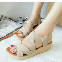 Wedges karet S35 Cream