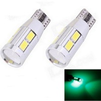 Lampu LED Mobil / Motor / Senja T10 / Wedge Side CANBUS 10 SMD 5730 LED - Green