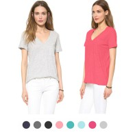 LADIES V-NECK T-SHIRT | 8 COLORS
