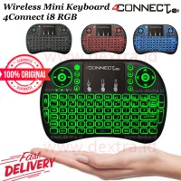 Wireless Mini Keyboard 4Connect i8 RGB with TouchPad and Air Mouse ORIGINAL