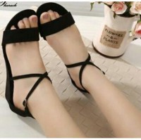 Sh Sandal Sepatu Wedges 0313,0095 5 Option Denim+Sintetis/Suede