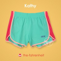 The-Fahrenheit Kathy Color Block Sporty Short Pants for Women