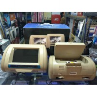 tv mobil/dvd headrest sandaran kepala 1 dvd/usb/sd/game