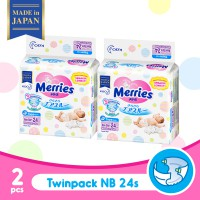Merries Baby Diapers New Born 24s - 2 pcs