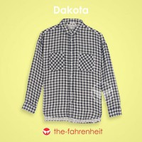 The-Fahrenheit Dakota Black-white vichy Long Sleeve Women Shirt