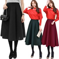 KOREAN STYLE ★ [#7-70] Hera Space Cotton Skirt/Rok Wanita Panjang/Rok pesta/Rok kerja