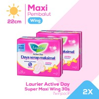 Laurier Active Day Super Maxi Wing 30S Twinpack