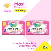 Laurier Active Day Super Maxi 30S Twinpack