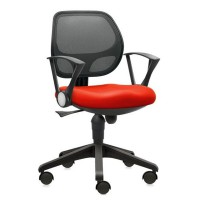 Prissilia Kursi Kantor Agate Net Secretary Chair With Arm