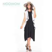 MOOIMOM 2 Piece Waterfall Maternity Dress Ibu Hamil Menyusui