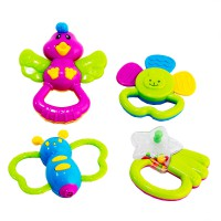 Rattle 4 pcs - Mainan Bayi - Ages 3m+