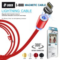 LIGER kabel charger magnetic LED 1meter fast charging IPHONE  cable magnetic Lightning cable